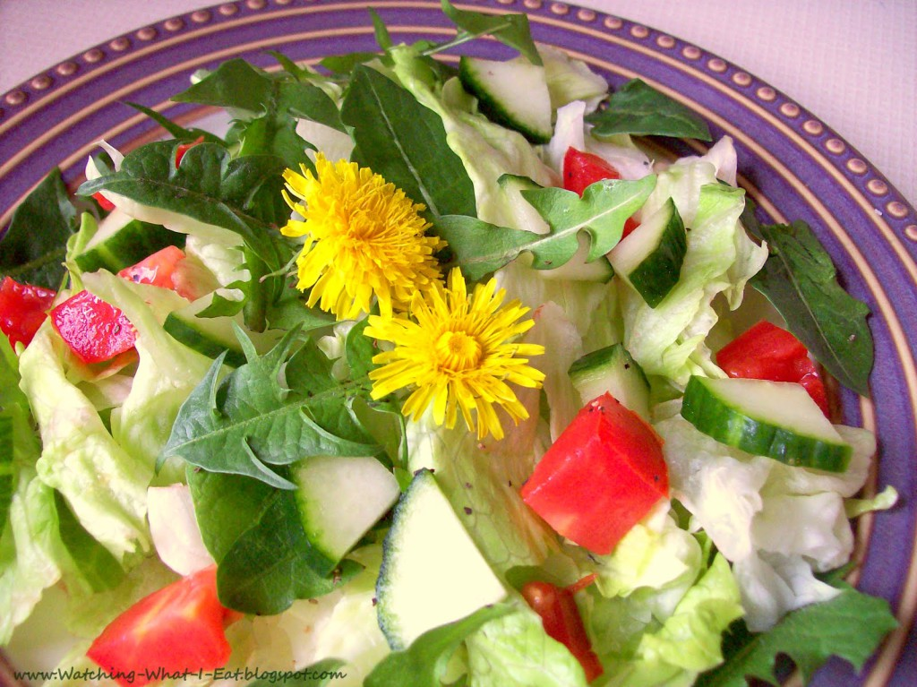 Salad with Dandelion Greens
