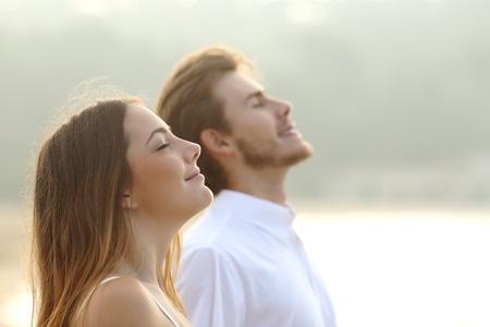 Couple breathing