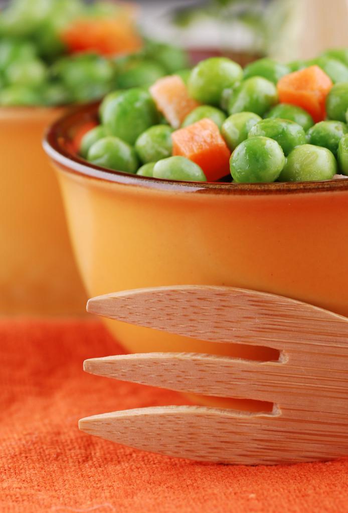 piselli e carote lessati - sette