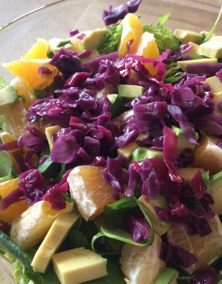 Salade-au chou fermenté